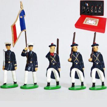 Fusiliers Marins En Blanc, coffret de 5 figurines