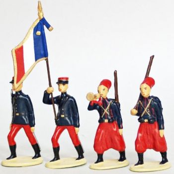 Zouaves Metropolitains (1914), ensemble de 4 figurines