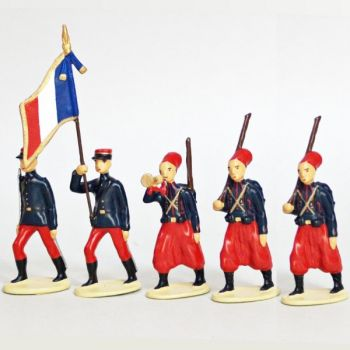 Zouaves Metropolitains (1914), ensemble de 5 figurines