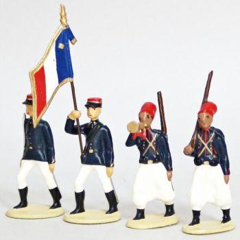 Zouaves, Tenue D'Ete (1914), ensemble de 4 figurines