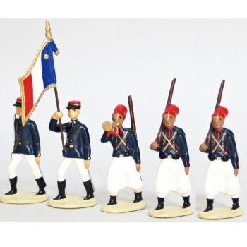 Zouaves, Tenue D'Ete (1914), ensemble de 5 figurines