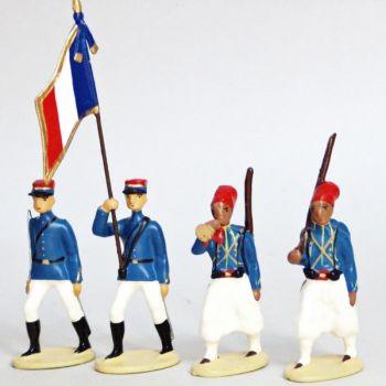 Tirailleurs Algeriens, Tenue D'Ete (IIIe Republique), ensemble de 4 figurines