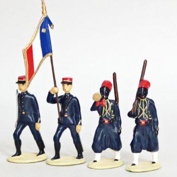 Tirailleurs Senegalais (IIIe République), ensemble de 4 figurines