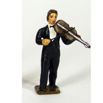 musicien de l'orchestre, debout, jouant du violon