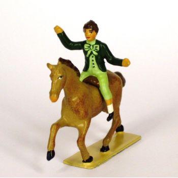 enfant montant un poney