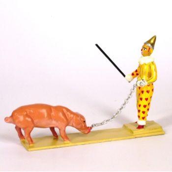 clown dresseur de cochon