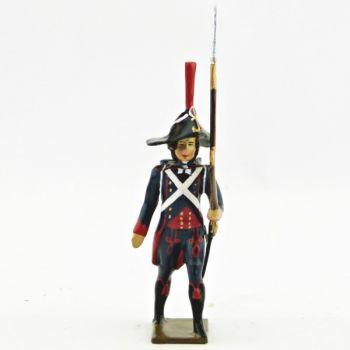 fantassin du 1er Rgt de Pontonniers (dits du Rhin) avec fusil sur l'épaule