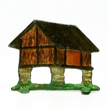 Petite hutte gauloise/pilotis