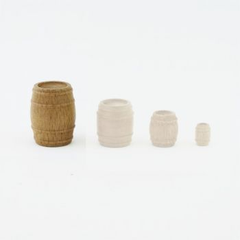 Très grand tonneau (bois) 25 mm x 30 mm