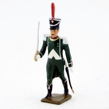 officier des voltigeurs du régiment de La Tour d'Auvergne (1806)