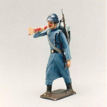 clairon de l'infanterie de ligne en capote bleu horizon