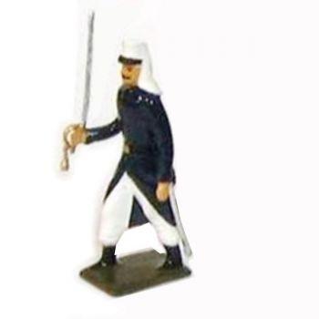 officier de la légion tenue bleue (maroc) en capote (1910)