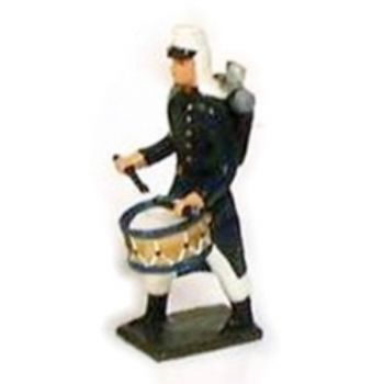 tambour de la légion tenue bleue (maroc) en capote (1910)