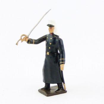 officier de la légion tenue bleue en capote (Maroc, 1910) à l'assaut
