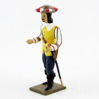mousquetaire, veste jaune