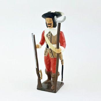Garde de Richelieu, avec mousquet et porte-mousquet