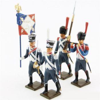 25e régiment d'Infanterie légère, ensemble de 4 figurines