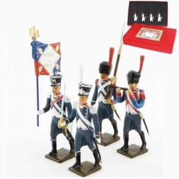 25e régiment d'Infanterie légère, coffret de 4 figurines