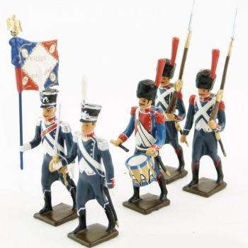 25e régiment d'Infanterie légère, ensemble de 5 figurines