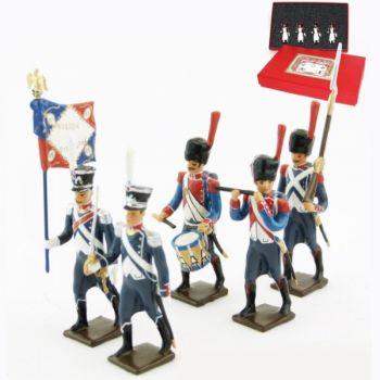 25e régiment d'Infanterie légère, coffret de 5 figurines