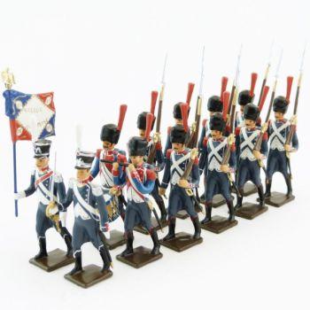 25e régiment d'Infanterie légère, ensemble de 12 figurines