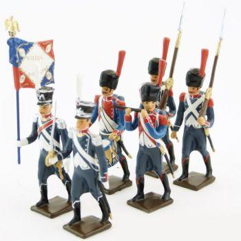25e régiment d'Infanterie légère, ensemble de 6 figurines