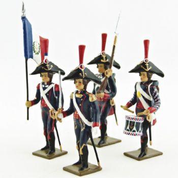 Pontonniers du Rhin (1792), ensemble de 4 figurines