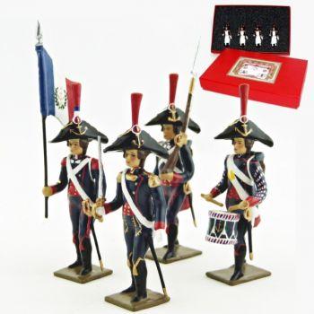 Pontonniers du Rhin (1792), coffret de 4 figurines
