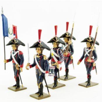 Pontonniers du Rhin (1792), ensemble de 5 figurines