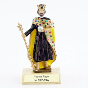 Hugues 1er Capet sur socle bois
