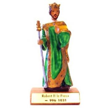 Robert II le Pieux sur socle bois