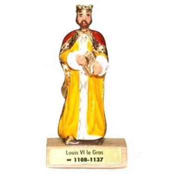 Louis VI le Gros sur socle bois
