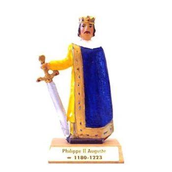 Philippe II Auguste sur socle bois