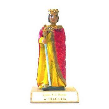 Louis X le Hutin sur socle bois