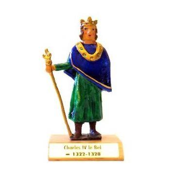 Charles IV le Bel sur socle bois