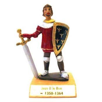 Jean II le Bon sur socle bois