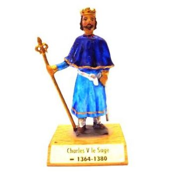 Charles V le Sage sur socle bois