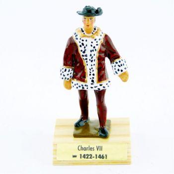 Charles VII le Victorieux sur socle bois