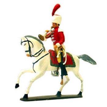 trompette attribué au 1er Régiment de Cuirassiers