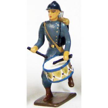 tambour de l'infanterie de ligne en capote b.h. à l'assaut