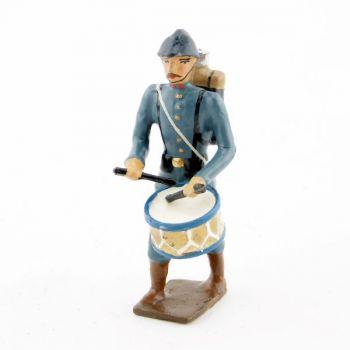 tambour de l'infanterie de ligne en tunique bleu horizon