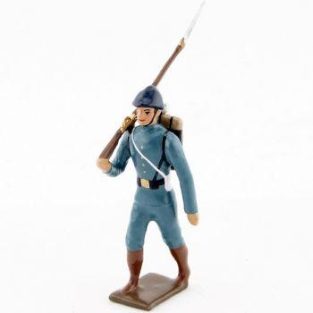 fantassin de l'infanterie de ligne en tunique bleu horizon