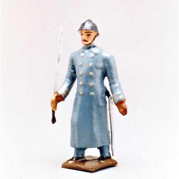officier de l'infanterie de ligne en capote bleu horizon