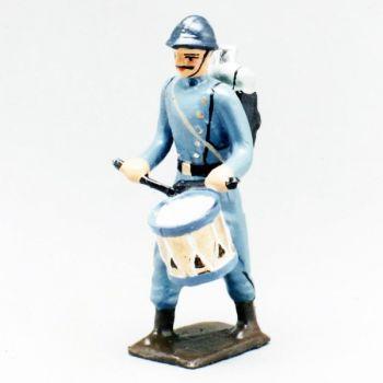 tambour de l'infanterie de ligne en capote bleu horizon