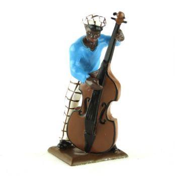 contrebassiste (diorama le Jazz) (JZ12)