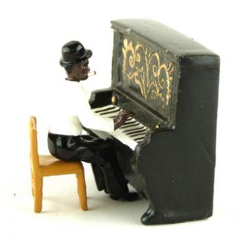 pianiste de Jazz et piano droit (diorama le Jazz) (JZ02)