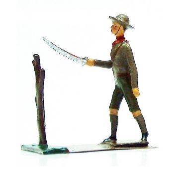 scout sciant une branche