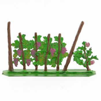 Rang de vignes avec rosier (8 x 4 cm)