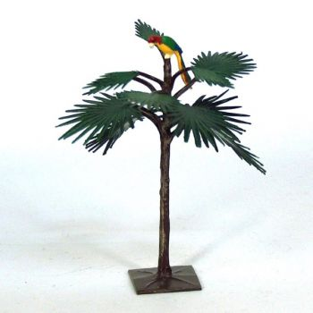 Grand palmier avec perroquet