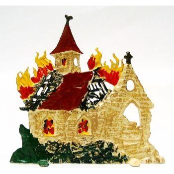 église en feu